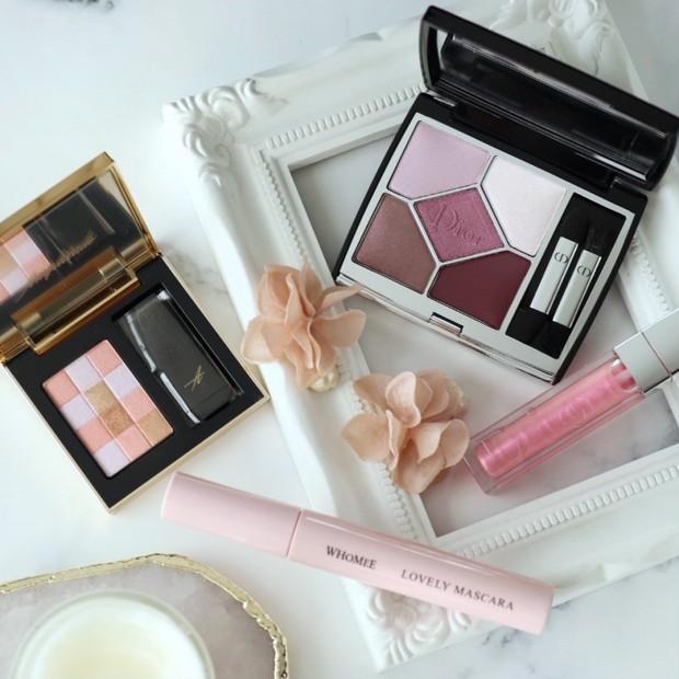 Dior2021春限定アイシャドウ《サンク クルール クチュール 849 ピンク サクラ》をメインに♡桜色コスメで春メイク