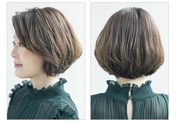 【大人のショートヘア】エレガントさとフレッシュ感を両方取りのショートボブ_2