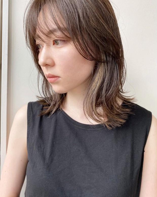【30代・40代向け】ワンカールミディアムヘア サイド