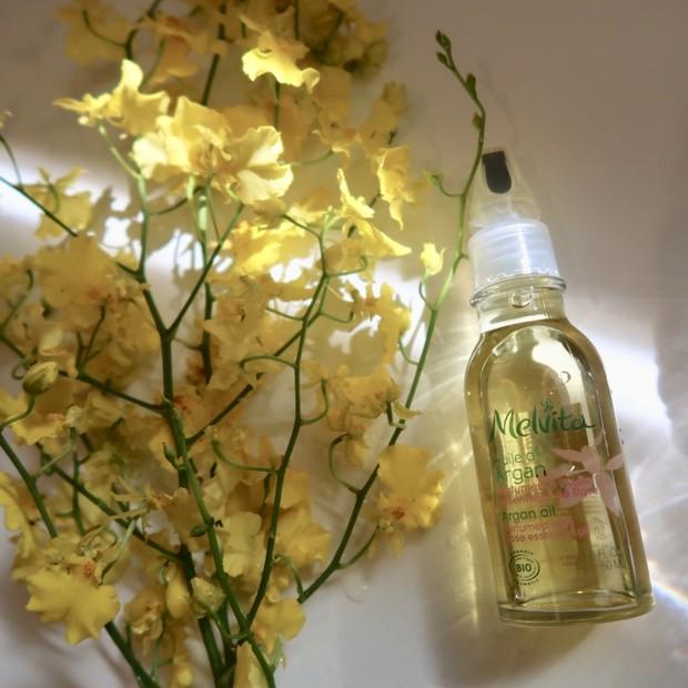 【保水力抜群!化粧水の前に使用して潤いを抱え込む】メルヴィータ ビオオイル アルガンオイル ローズ♡