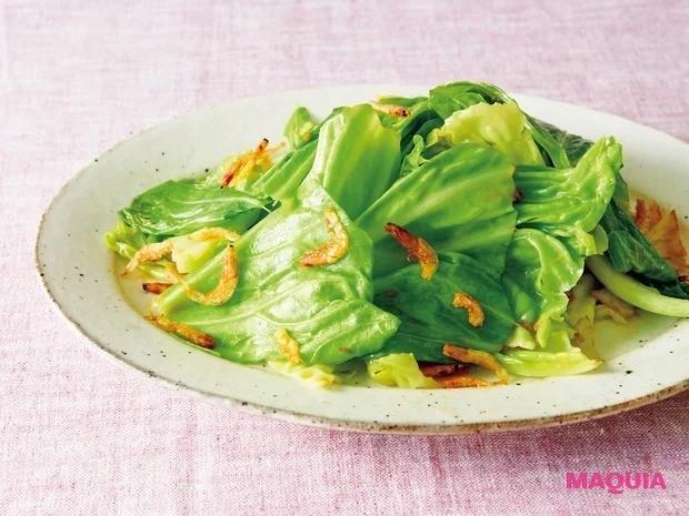 【平野レミさんの簡単レシピ】春キャベツを使ったレシピ_ぶったたき!キャベツのささっと炒め
