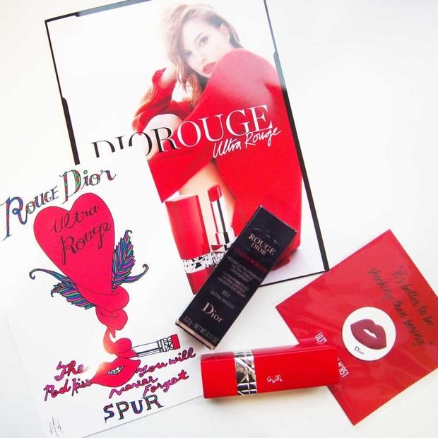 【新作秋コスメレポ♡︎】世界先行販売中!乾燥しないマットリップ《Diorウルトラルージュ》で自分好みの赤とオリジナル刻印を♡︎