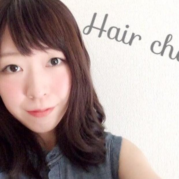 ヘアチェンジ♡前髪作って面長カバー