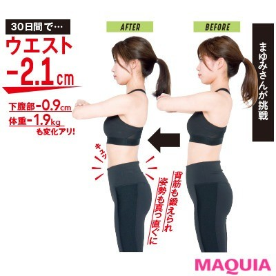 【筋トレダイエット】30日間でウエスト-2.1cm