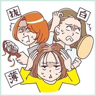 老け髪診断   髪も肌と同じくアンチエイジングしたい! 白髪・抜け毛・薄毛と戦う!