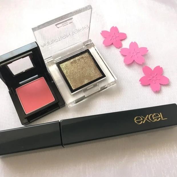 【桜コスメ】桜の香りと桜カラーの春メイク_メイクに使用したコスメ