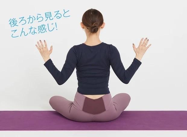 辛い肩こりにおすすめの美筋ヨガ①_①②を繰り返し、合計10回行う。