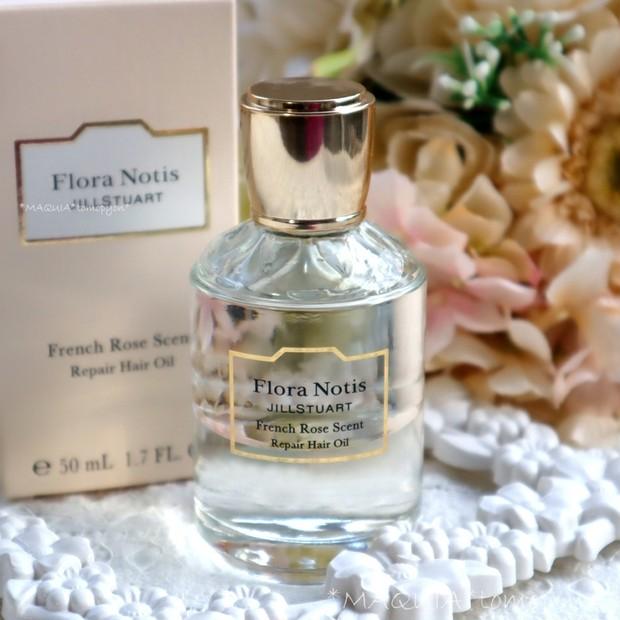 髪にうるおいと花の香りを❤フローラノーティス ジルスチュアート リペアヘアオイル フレンチローズ