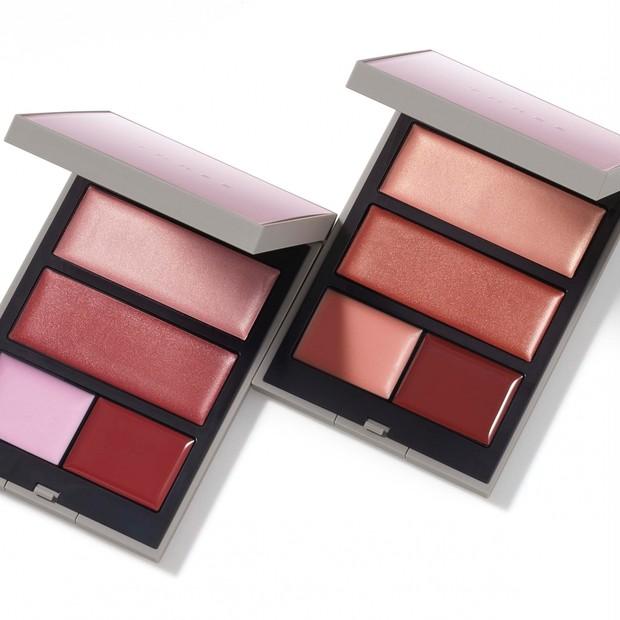 秋薫るTHREE グローフリーダムパレットライジング限定2種が発売! 「シマリング グロー デュオ」と2色のリップがセットに
