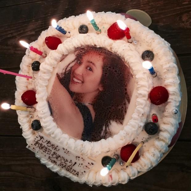 ひと足お先に中村アンちゃんのバースデーを特製ケーキでお祝い!