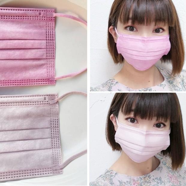 【大人気 血色マスク】新色の血色カラー不織布マスクでチークのように血色感アップ♪