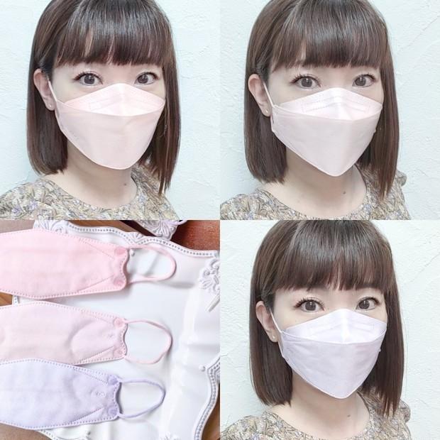 【新色JN95マスク】日本製不織布3D立体型血色マスク 改良された血色カラー比較