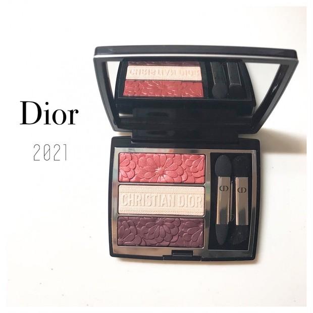 Dior 2021春の新作【トリオ ブリック パレット<ピュア グロウ> 】トリプルブルームご紹介