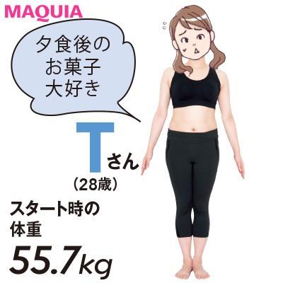 【本気で痩せたいあなたに】夕食後のお菓子がやめられないTさん(28歳)は2ヵ月でどこまで痩せた?