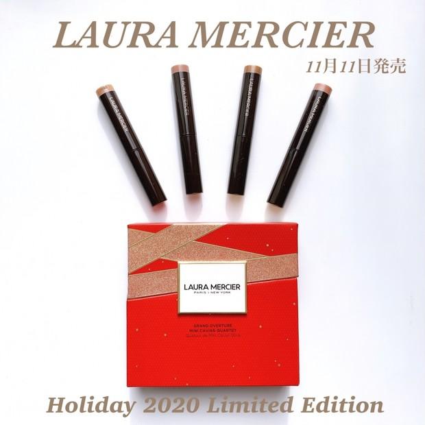 【2020ホリデー限定】11月11日発売LAURA MERCIER人気スティックアイカラーセット!お得なミニサイズ4色で素敵な冬メイクを♡