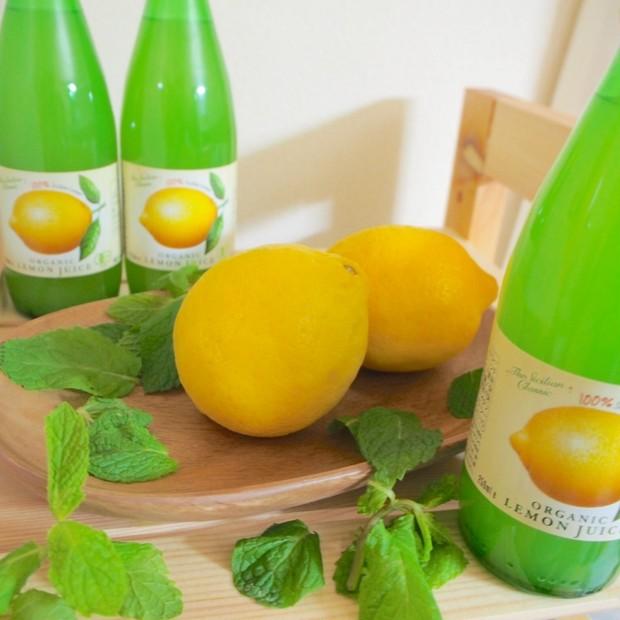紫外線を浴びた後は『オーガニックレモンジュース』でビタミンC補給♪