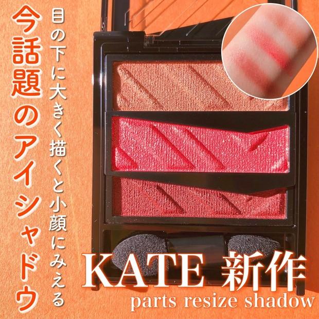 【KATE】発売前からSNSでバズってる!ケイトから新発売の小顔になれるアイシャドウをレビュー♡