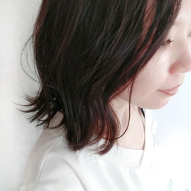 ロングからミディアムヘアに! カラーなしの地毛暗髪でも可愛いいは作れます◎_4