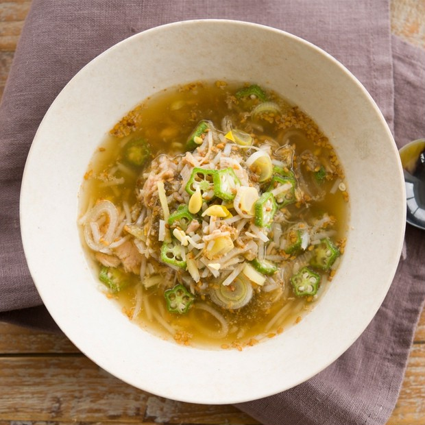【美容スープレシピ】「豆もやしとツナのとろみスープ」