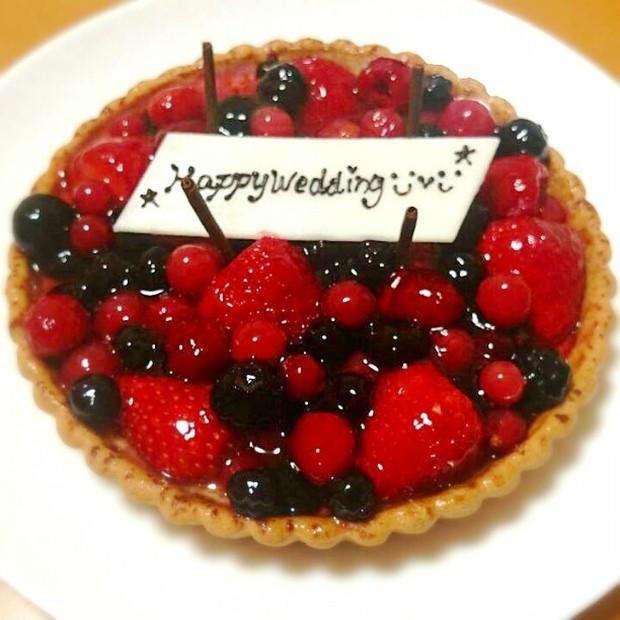 ビタミンCたっぷりケーキで入籍お祝い♪