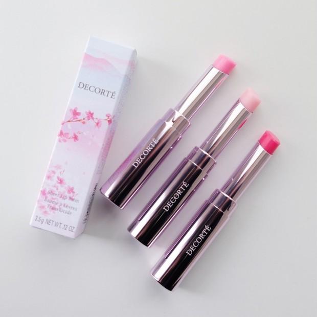 【桜コスメ2021】コスメデコルテから、桜カラーのリップバームが数量限定発売