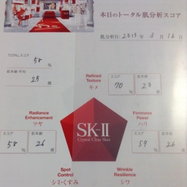 5ヶ月ぶりのSK-II肌分析。