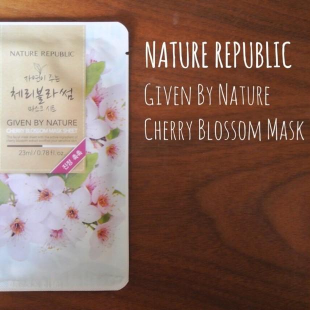【韓国コスメ】NATURE REPUBLIC 桜シートマスク