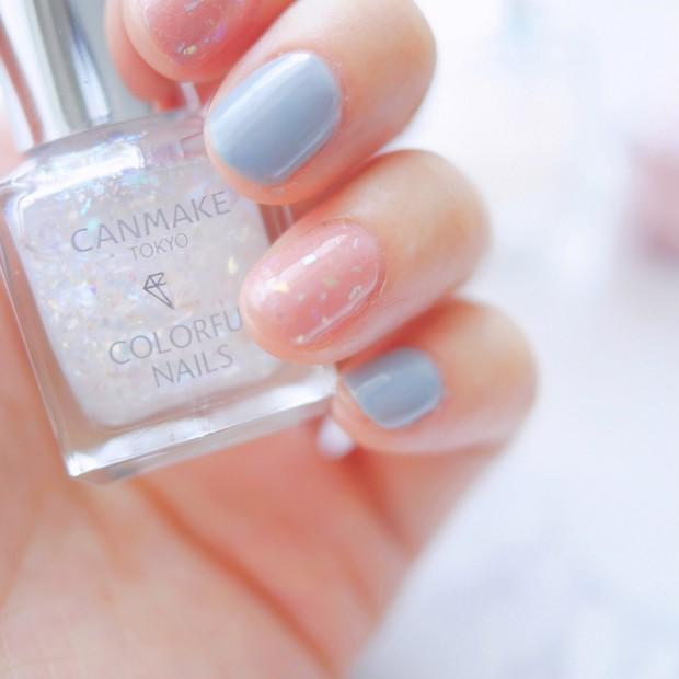【CANMAKE】カラフルネイルズの新色&限定色レポ。今年の夏ネイルはくすみパステルが可愛い♩