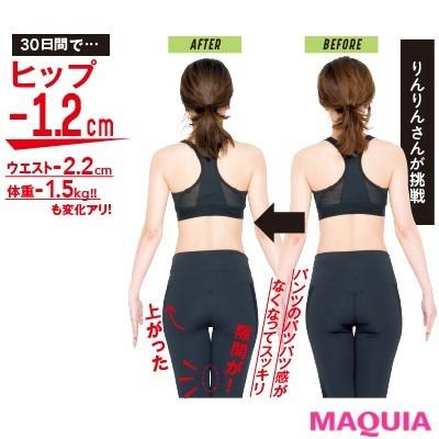 【筋トレダイエット】30日間でヒップ-1.2cm