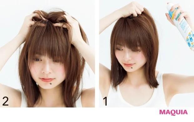 4. 「直毛でスタイルが決まらない」タイプにおすすめ_日中ドライシャンプーでふわっと復元