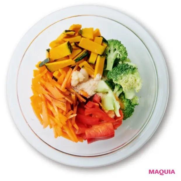 【美容スープレシピ】緑黄色野菜たっぷりで抗酸化パワー絶大 「かぼちゃとブロッコリーのオイスターソーススープ」作り方