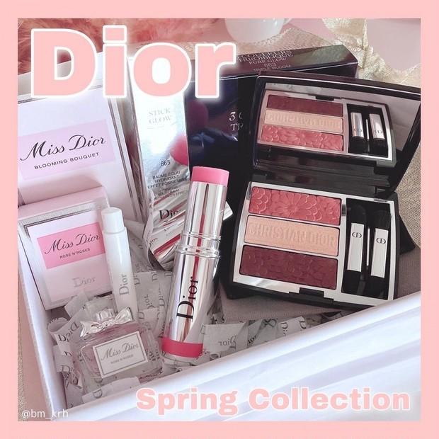 【Dior スプリング コレクション 2021 】トリオ ブリック パレット& スティック グロウを使用して春メイク💄🌸(メイク動画付き)