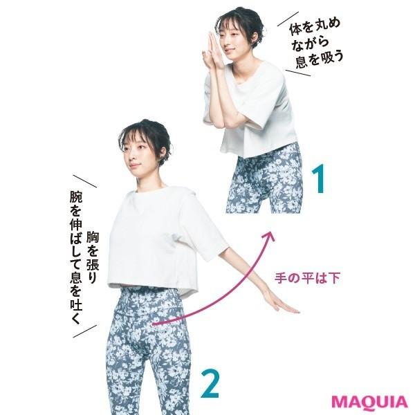 2. 全身のエネルギーが満タンに! 血流アップ深呼吸(3回)