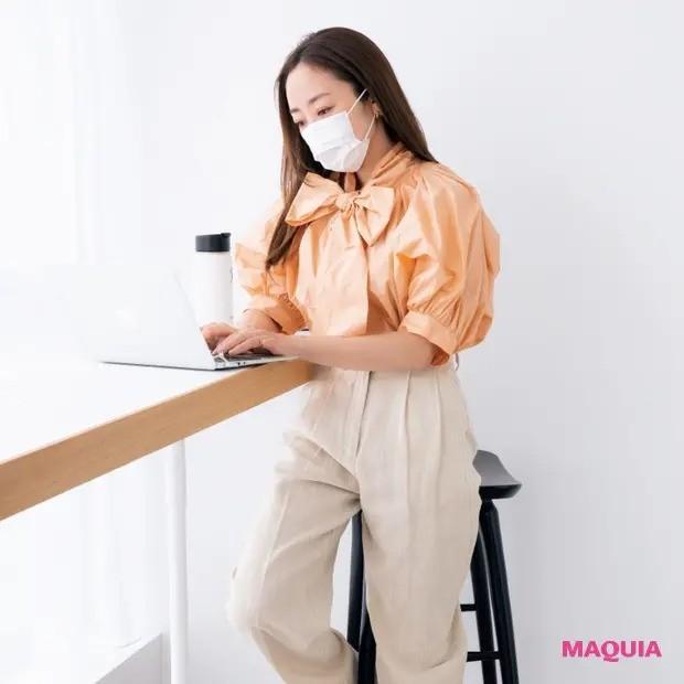 【シーン別メイク】神崎 恵流・オフィスで映えるマスクメイク_3