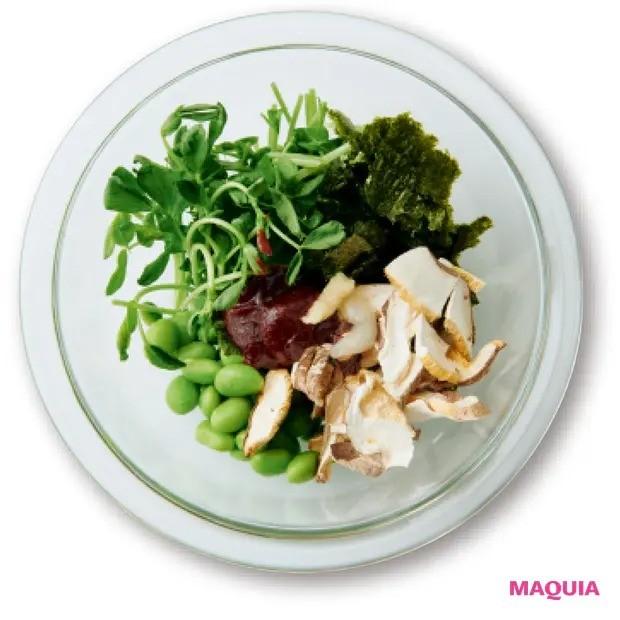 【美容スープレシピ】マイルドな辛さが美味! 食物繊維もたっぷり 「海苔のピリ辛豆乳スープ」作り方