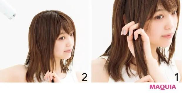 【くせ毛など髪のお悩み対策】セットする:ハチや横ボリュームはドライ時に抑える_やり方