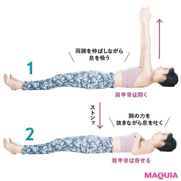 2. 緊張→脱力で深い眠りへ 背骨&肩甲骨ほぐし(1回30秒5回以上)