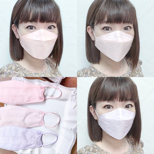 【新色JN95マスク】日本製不織布3D立体型血色マスク 改良された血色カラー比較_1