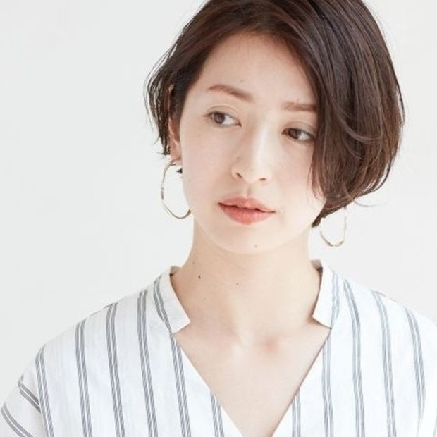 【40代-50代】大人フェミニンな小顔ショートボブスタイル