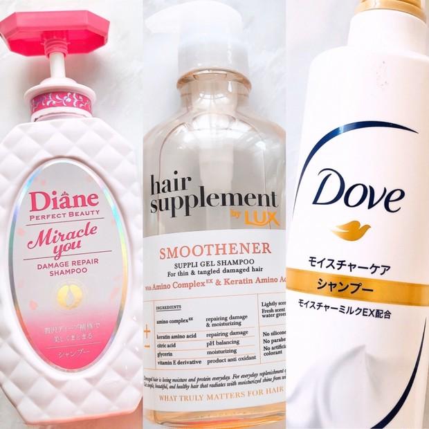 【1000円以下】市販シャンプー効果&香り比較【ダイアン •ラックス•ダヴ】
