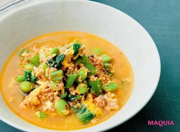 【美容スープレシピ】ピリ辛で体が温まり代謝もアップ 「ポーク&エッグ坦々スープ」_1