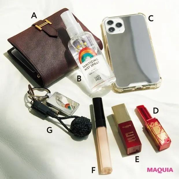 マキアミューズ・鈴木えみさんのバッグの中身_バッグの中身は、必要最低限に