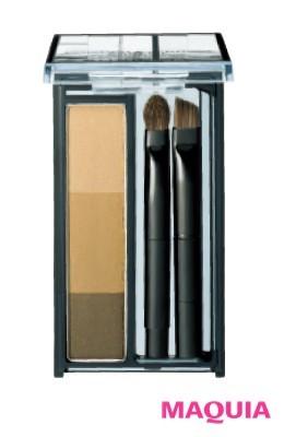 1番上の色をハイライト、中央をノーズシャドウに使用。スージー パウダーアイブロウ エキスパート 01 ¥1300/SUSIE N.Y. DIVISION