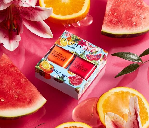 「ネイルズ インク」からジューシーな夏のデュオキット。香りつきシールのボックスでお届け!