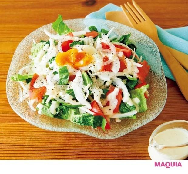 【平野レミさんの簡単レシピ】新玉ねぎを使ったレシピ_新玉ねぎのシーザーサラダ