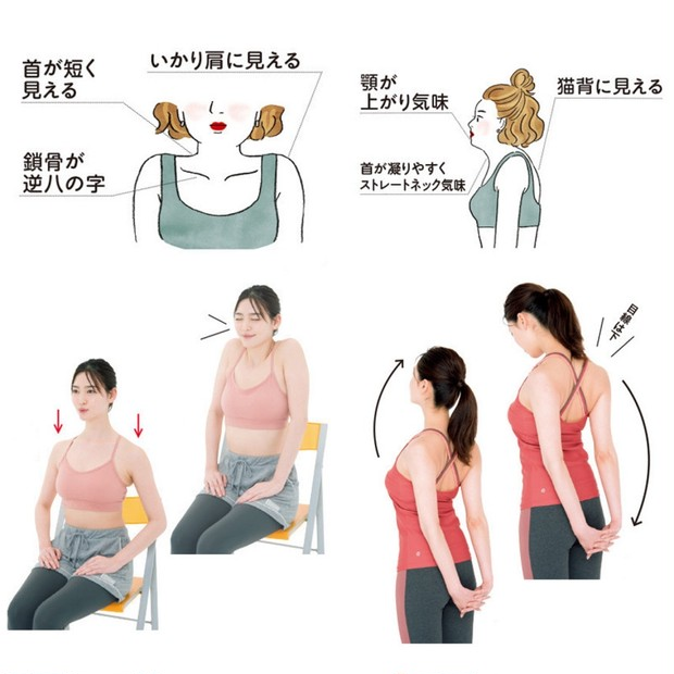 【簡単ストレッチ】猫背のお悩みにも! 巻き肩や肩こりを解消する方法とは? 正しい姿勢や筋肉のほぐし方を専門家が解説