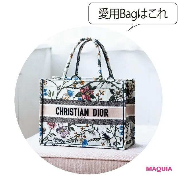 【ポーチの中身】プライベート用のメイクポーチはミニマムに_愛用バッグはDior