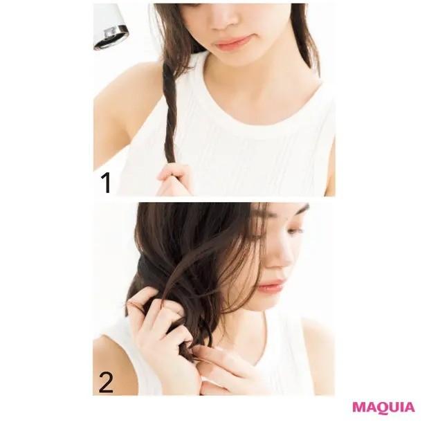 【くせ毛など髪のお悩み対策】セットする:ストレートをイメージしながらドライ_くせを生かすときは