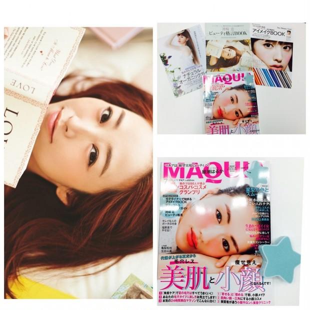 マキア7月号、通常版&コンパクト版、好評発売中! この号には3冊のBOOKと星型かかとスムーサー、ついてます。神崎恵 美の格言BOOKをバッグにインして持ち歩いている、という嬉しい声も!
