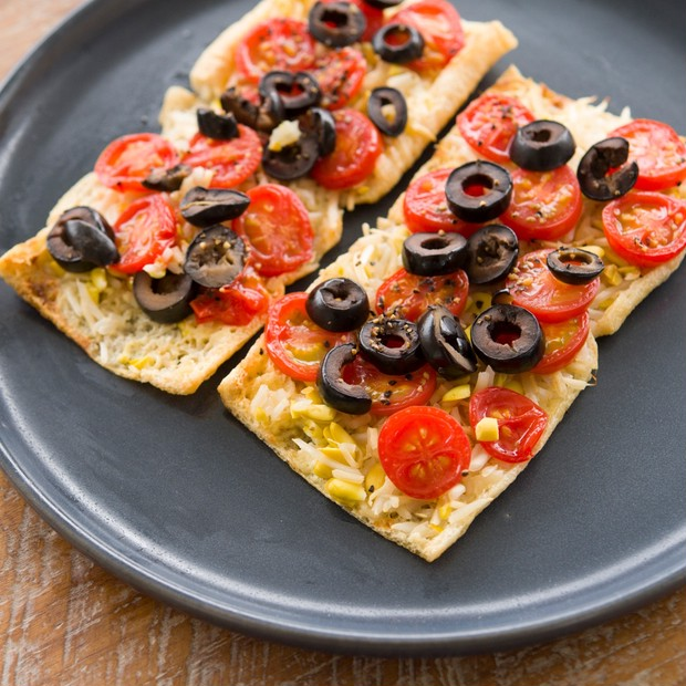 豆もやし+トマトピザ